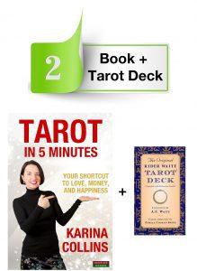Book and tarot deck website