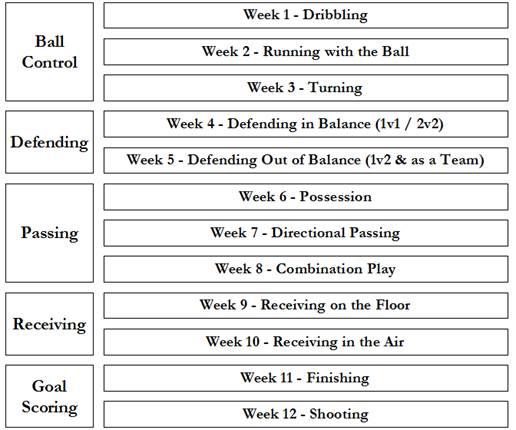 12 week soccer syllabus