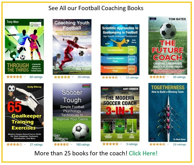 soccer coaching and football training books