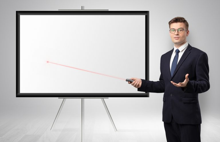 Laser pointer and PowerPoint